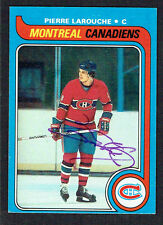Pierre Larouche #233 signed autograph auto 1979-80 Topps Hockey Trading Card