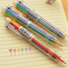 Stationery Multi-Color Ballpoint Pen 6 colors Ballpoint Pen Study Pens GE
