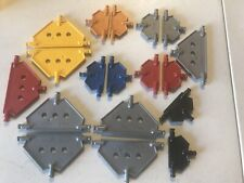 18 Knex K'Nex legos lego Flat panels part parts Yellow red blue gray panel Plate