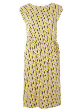 Dorothy Perkins Yellow And Stone V-back Midi Dress Size UK 22 DH091 JJ 08