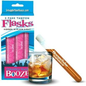 5pk Fake Tampon Smuggle Booze Alcohol Liquor Drink Vacation Hidden Flask Set