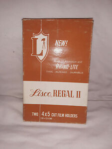 Lisco Regal 2 4x5 Film Holders 2 Pack Unmarked, clean, and in box