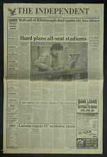 Hillsborough Liverpool Tragedy Disaster 1989 4 Page Newspaper Article 7249