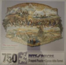 New BITS & PIECES 750 Piece Jigsaw Shaped Puzzle  Jesus Last Supper Religious