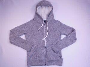American Eagle Full Zip Hooded Sweatshirt Womens Gray Size Small Petite