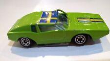 Die Cast Metal Rally Car Saab Sonnet No.1014 Lime Green Yatming Hong Kong