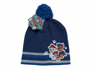 Paw Patrol Pompom Hat, Winter Hat,Bobble Hat, Size 54, Blue M.Black Pompom