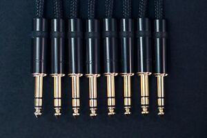 8X Jack TRS Van Damme Starquad Analog Gold   Patch Cables   Balanced   30cm - 1m