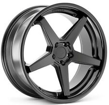 20x9/10.5 Ferrada FR3 5x114 +35/38 Black Wheels Fits Mustang V6 V8 Gt Gs400 430