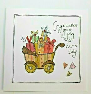 Congratulations you're going to have a baby  -  blank card By Bea