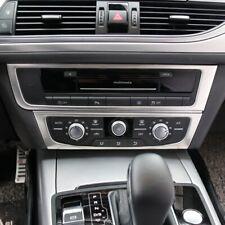 Passend für Audi A6 C7 A7 2012-2018 Radio Rahmen Blenden Edelstahl Zierrahmen