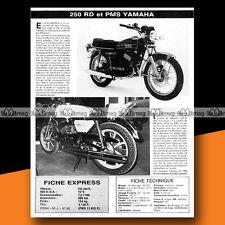 ★ YAMAHA RD 250 & YAMAHA-PMS 250 ★ 1976 Essai Moto / Original Road Test #a127