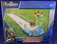 Slip N and Slide AVENGERS WET & WILD WATER SLIDE - 15 FT -  Kids Pool Toy