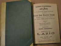 GUIDA-ITINERARIO DELL'ITALIA e di parte dei paesi limitrofi, 1898. N III Lazio