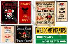UPDATED!!  8 Disney Cruise Line Pirate Signs Door Magnets - Group Y