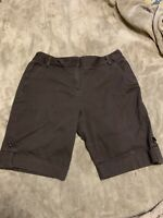 Women's Bamboo Traders Brown Cuffed Shorts Size 16