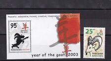 netherlands antilles 2003 year of the ram,set MNH    e839