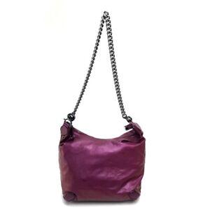 GUCCI GALAXY Chain Shoulder Bag Purple/Chrome 228560