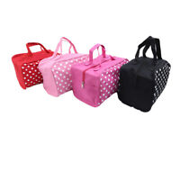 Waterproof Dot Pattern Travel Makeup Bag Cosmetic Organizer Wash Handbag Casual