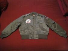 FAA Historical Society Patched Vintage Light Flying Air Force Jacket Size 2X
