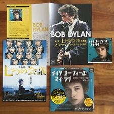 "JAPAN OFFICIAL STICKER+7"" BLUE VINYL+ 4x FLYERS! BOB DYLAN MAKE YOU FEEL MY LOVE"