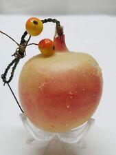 Vintage Antique Glass Hand Blown Apple Fruit Christmas Tree Ornament Decoration