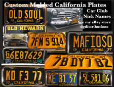 VINTAGE STYLED AND SIZED replica california license plate 1940-1955