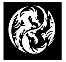 Dragon Ying & Yang Vinile CAR Decalcomania/Adesivo