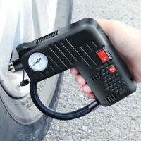 Portable Air Compressor Electric 12V Automotive Car Bike Tire Inflator Pump Fast