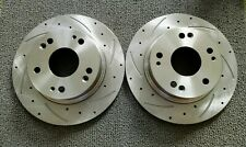 2003-07 HONDA ACCORD/2004-08 ACURA TSX REAR CROSS-DRILLED AND SLOTTED ROTORS/NEW