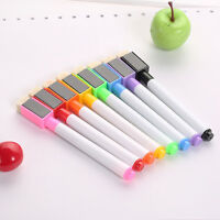 8 Farben Boardmarker MAGNETISCH Whiteboard Marker-abwischbar Magnettafel be D0U2