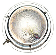 Two Color 5 Inch Stainless Steel Surface Mount Dome Cabin Light for Boats