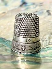 Antique Sterling Silver Chaised Thimble Waite Thresher & Co Beautiful Design!!!