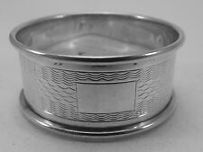 HM Silver Napkin Ring (373a) - Birmingham 1929 William Adams - not engraved