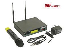 Micro Sans Fil Main UHF 8 Canaux Sélectionnables avec Afficheurs LCD