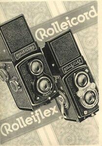 Rolleiflex Rolleicord Camera & Accessory 1939 Catalog Reprint