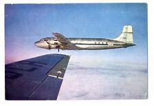 1960s SAS Scandinavian Airlines Issued Douglas DC-6 Postcard