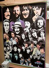 BEATLES 1976 Capital Records Rock and Roll Music Original Promo Poster