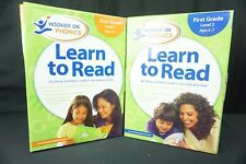 Hooked on Phonics Learn to Read First 1st Grade Set Levels 1 and 2 Age 6-7