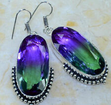 "*NEW* GORGEOUS UNIQUE AMETRINE EARRINGS 2"" *FREE SHIPPING*"