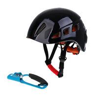 Pro Safety Helmet Climbing Rappelling   Hard Hat + Right Hand Ascender