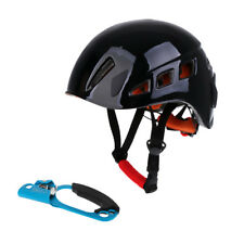 Pro Safety Helmet Climbing Rappelling Rescue Hard Hat + Right Hand Ascender