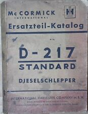 McCormick Farmall D-217 Ersatzteilkatalog
