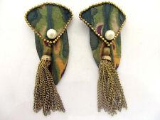 anciennes boucles d'oreille signées création unique vintage french earrings