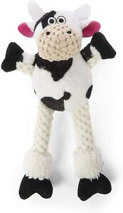GoDog Chew Guard Technology Checkers Skinny Cow Plush Durable Small Dog Toy