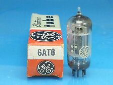 GE 6AT6 VACUUM TUBE SINGLE 1 PCS ABSOLUTELY NOS NIB