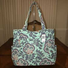 NWT Vera Bradley Pleated Tote In Fan Flowers