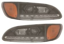 PETERBILT TRUCK 325 335 337 340 2000-2015 PROJECTOR LED HEAD LIGHTS LAMPS PAIR