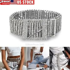 Women Shiny Belt Waist Chain Crystal Diamond Waistband Full Rhinestone  Luxury 1413a2a9695d