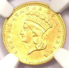 1873 Indian Gold Dollar (G$1 Coin) - NGC Uncirculated Details (UNC MS) - Rare!